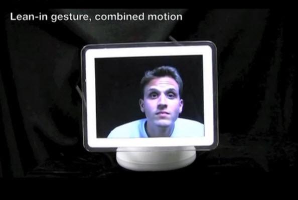 lean-in gesture