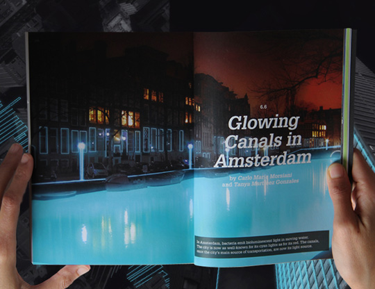 glowing canals in Amsterdam