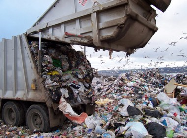 plastic landfill dump truck