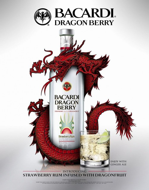 BACARDI FLAVORED RUMS DRAGON BERRY(TM)