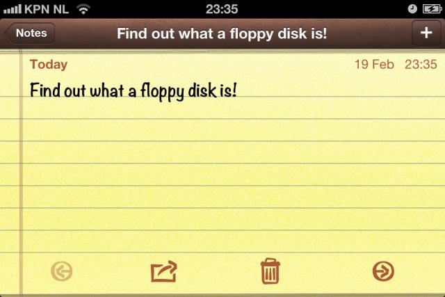 Floppy wha?
