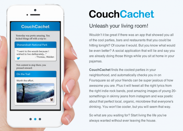 Couch Cachet automatically updates social network information