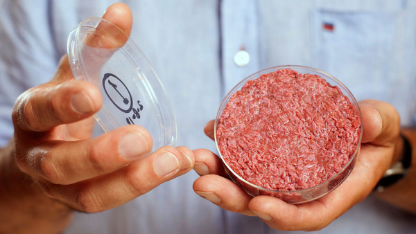 lab grown meat first cultured beef burger