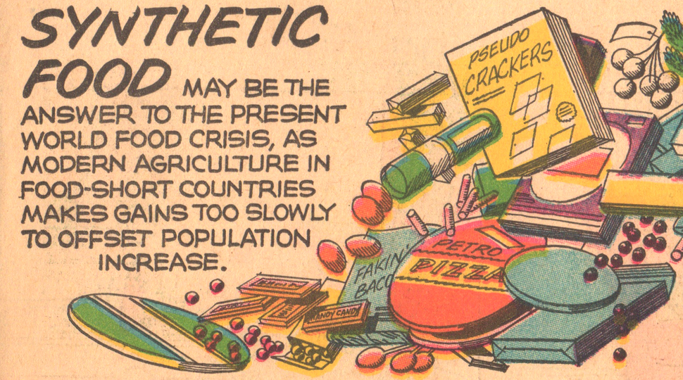 Athelstan Spilhaus comic November 14 1965, undated future prediction published as 'our new age' comic strip