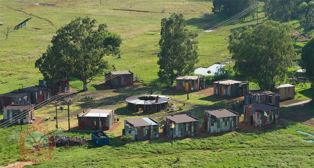 fake shanty town in south africa for vacationers