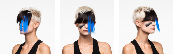 Neo-tribal privacy loving make up style that helps you avoid face recognition