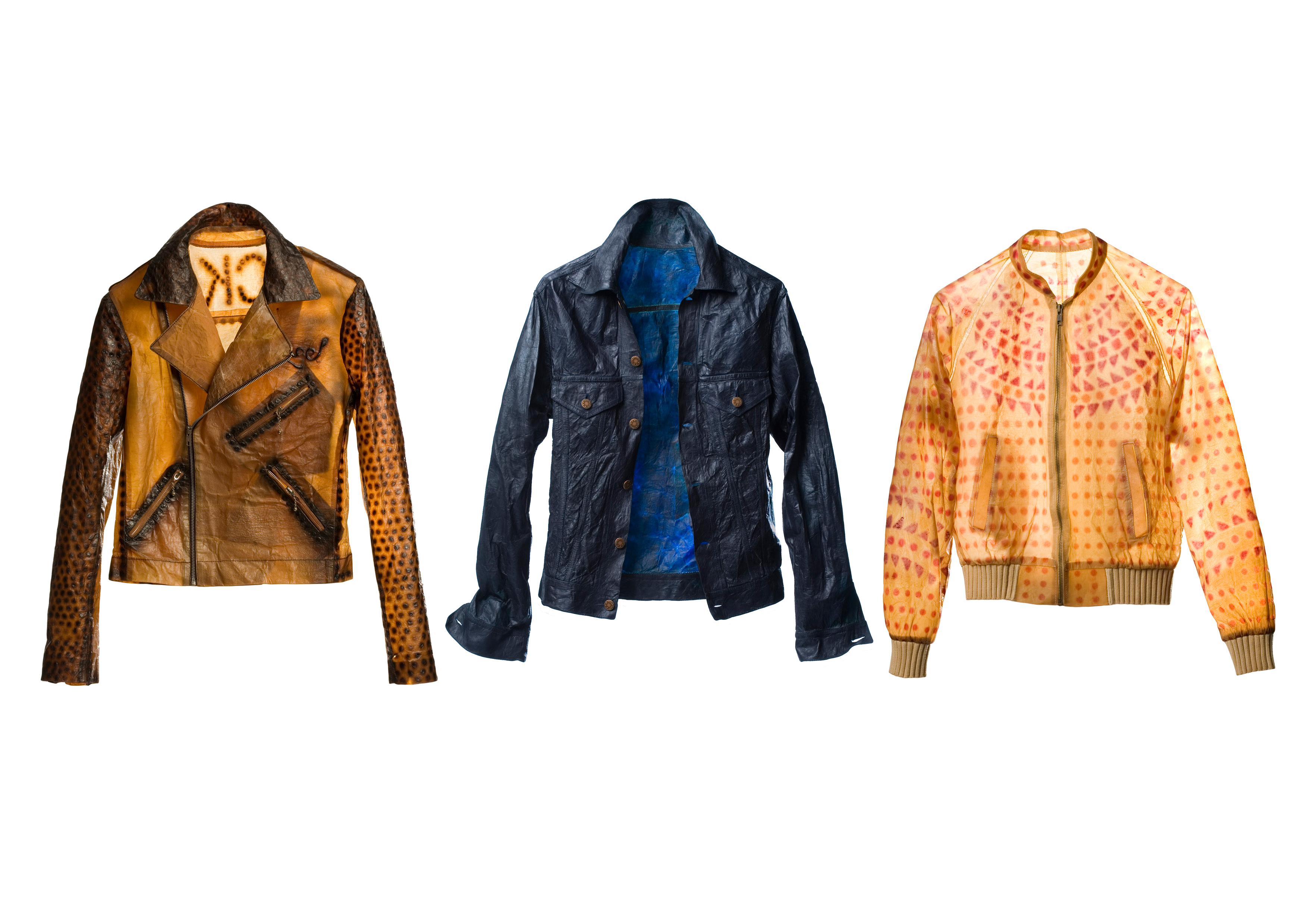 Biocouture jackets made of cellulose material