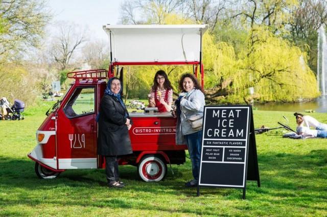 Meat ice cream cart