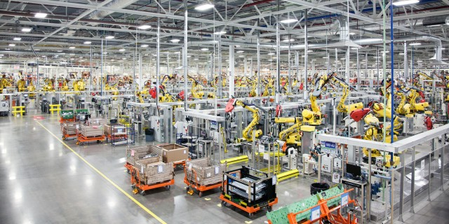 Chrysler robots assembly line