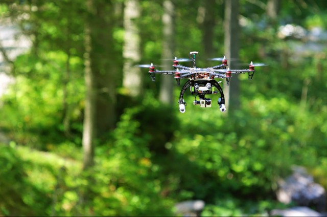 drone-in-the-forest