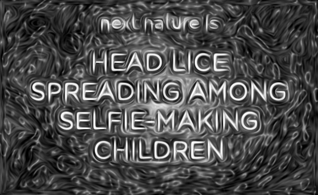 Head lice spreading among selfie making children