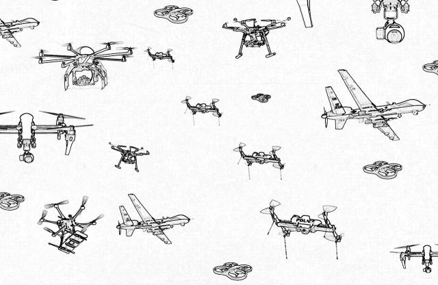 Drones Coloring Book