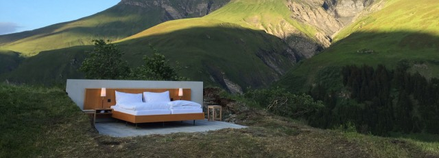 Open air hotel in Switzerland offers panoramic view