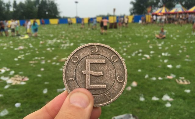 Eco coin at Lowlands Popfestival