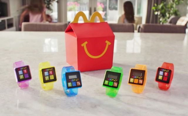 McDonald's provided their Happy Meals with a high-tech activity tracker toy