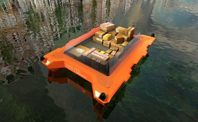 The first self driving boat in Amsterdam