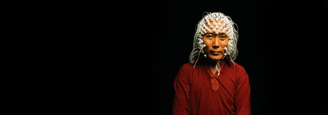 Monk during an EEG