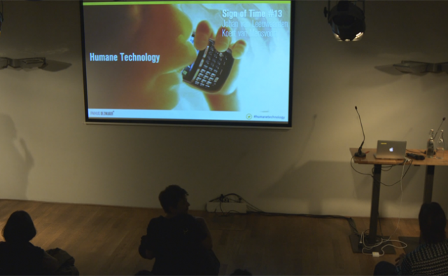 Pakhuis de Zwijger invited Koert van Mensvoort to discuss the topic of Humane Technology.