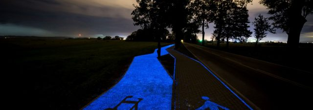 Luminous Bike Lane in Poland