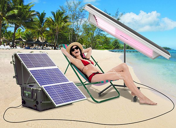 mobile SOLAR powered tanning