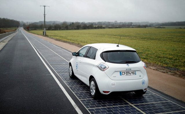 World's first solar road opened in Normandy, France.