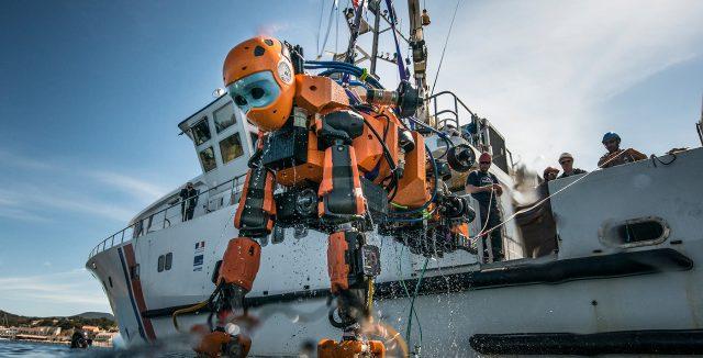 humanoid robot diver explores depths