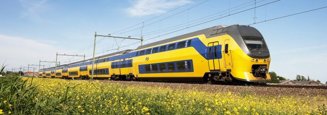 Dutch train passenger travel 100% on wind power.