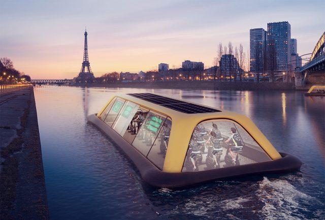 Floating gym in Paris
