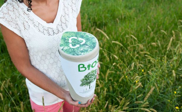 The Bios Incube is a smartphone-connected biodegradable urn that turns cremated remains into a tree.