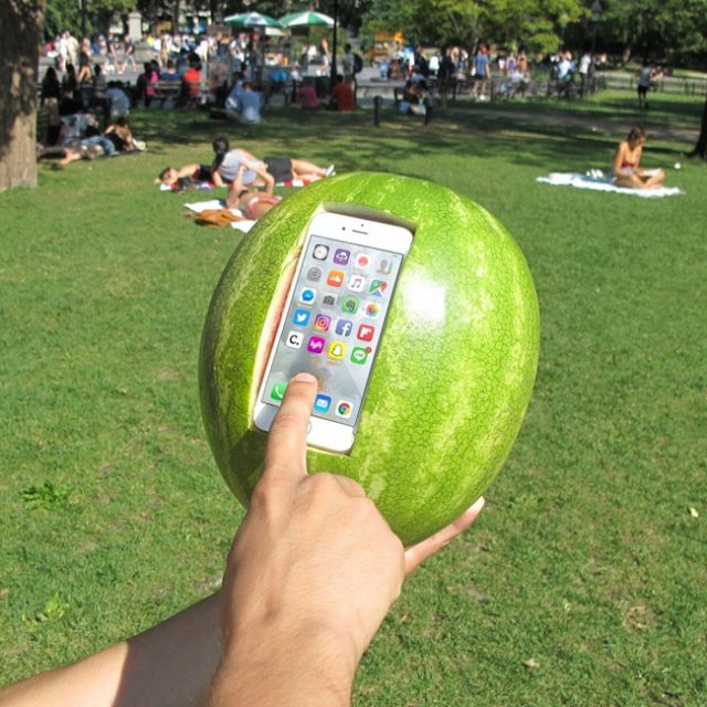 Protect your phone with a watermelon?