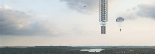 Skyscraper Clouds Architecture Analemma