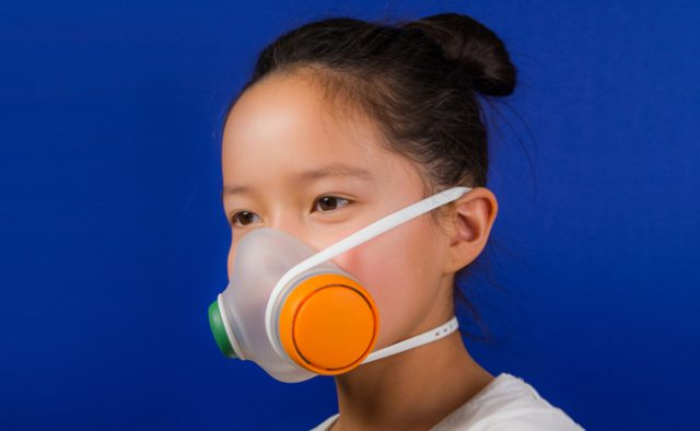 Danish design studio Kilo created an air pollution mask suitable for kids aged 6 and up.