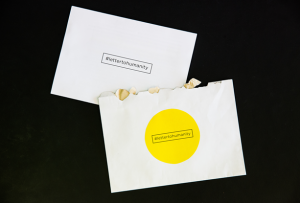 The Letter to Humanity from Next Nature Network in envelope