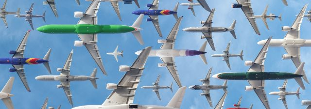 air traffic in one day photography