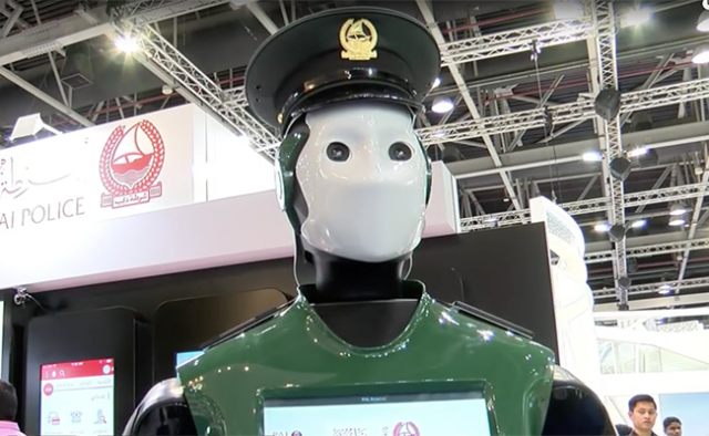 The first robotic officer will soon report for duty in Dubai.