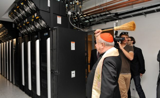priest bless server rooms