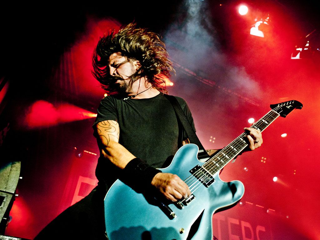 Dave Grohl van de Foo Fighters
