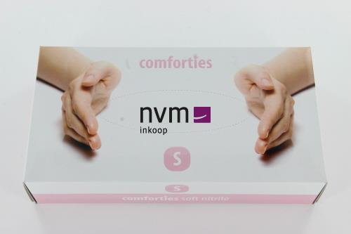 COMFORTIES SOFT NITRILE PREMIUM HANDSCHOENEN POEDERVRIJ SMALL ROZE (100st)