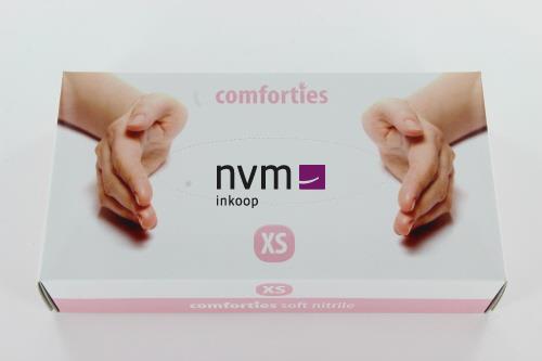 COMFORTIES SOFT NITRILE PREMIUM HANDSCHOENEN POEDERVRIJ EXTRA-SMALL ROZE (100st)