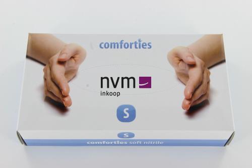 COMFORTIES SOFT NITRILE PREMIUM HANDSCHOENEN POEDERVRIJ SMALL PAARS/BLAUW (100st)
