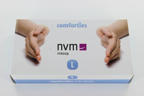 COMFORTIES SOFT NITRILE PREMIUM HANDSCHOENEN POEDERVRIJ LARGE PAARS/BLAUW (100st)
