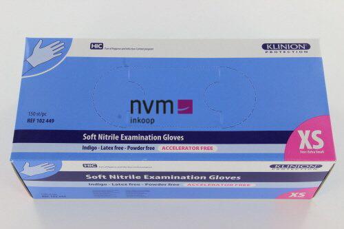 KLINION PROTECTION SOFT NITRILE HANDSCHOENEN INDIGO LARGE (150st)