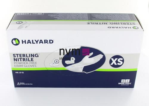 HALYARD HANDSCHOENEN STERLING NITRILE POEDERVRIJ EXTRA-SMALL GRIJS (200st)