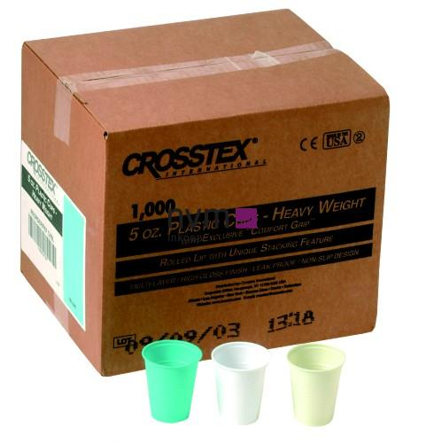CROSSTEX PLASTIC BEKERS GEEL 148ml (1000st)