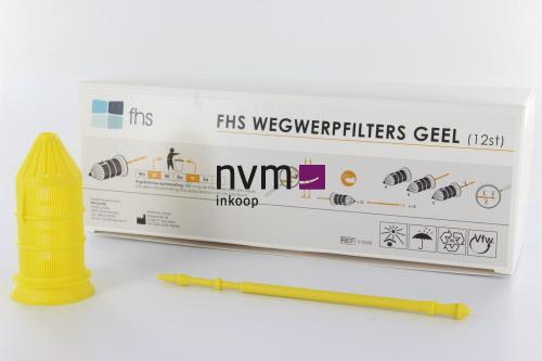 FHS WEGWERPFILTERS GEEL (12st)