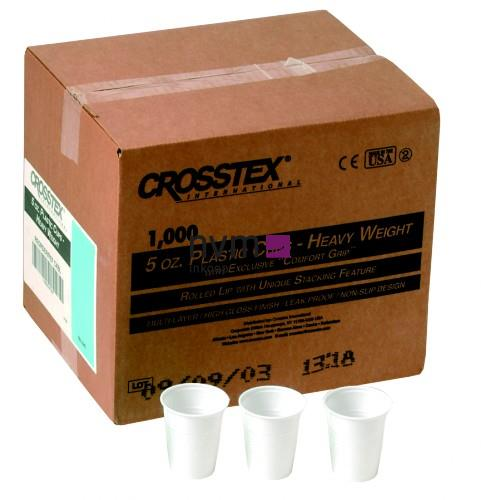 CROSSTEX PLASTIC BEKERS WIT 148ml (1000st)