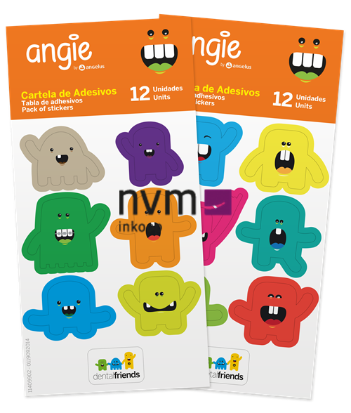 ANGELUS ANGIE DENTAL FRIENDS STICKERS (12x6st)