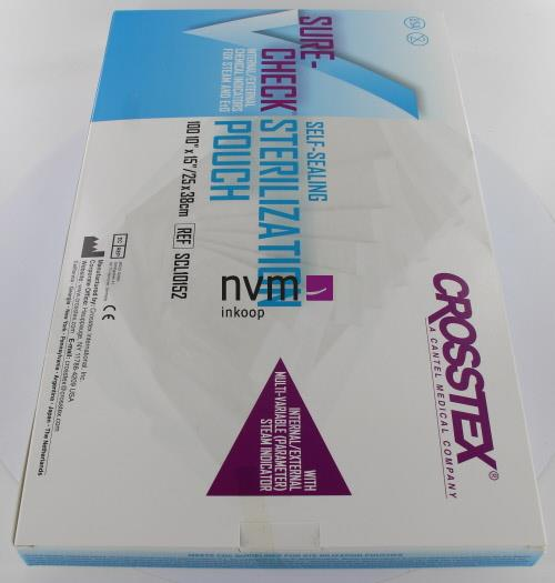 CROSSTEX SURE-CHECK STERILISATIE ZAKJES 25x38cm (100st)