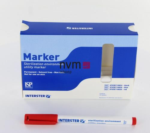 INTERSTER PERMANENT MARKER ROOD
