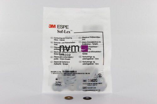 3M ESPE POLIJSTSCHIJFJES SOFLEX 1982C GROOT ZWART GROF 12,7mm (85st)